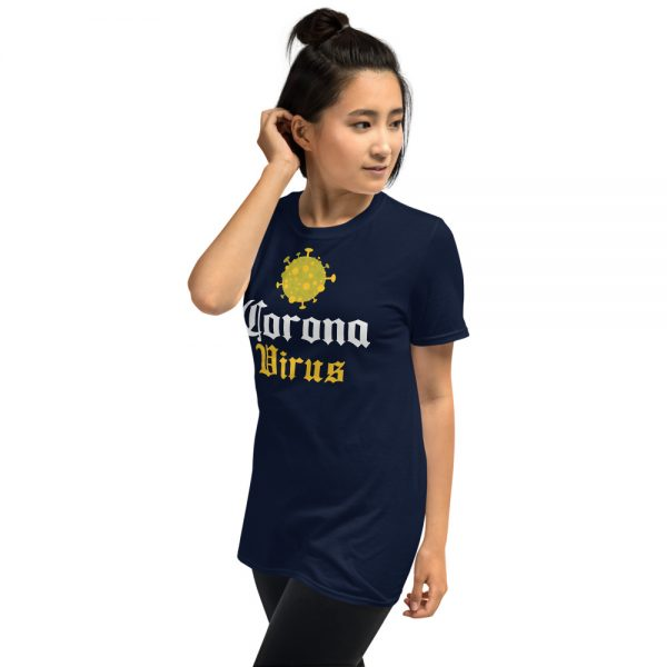 Camiseta Coronavirus Cerveza Oscura