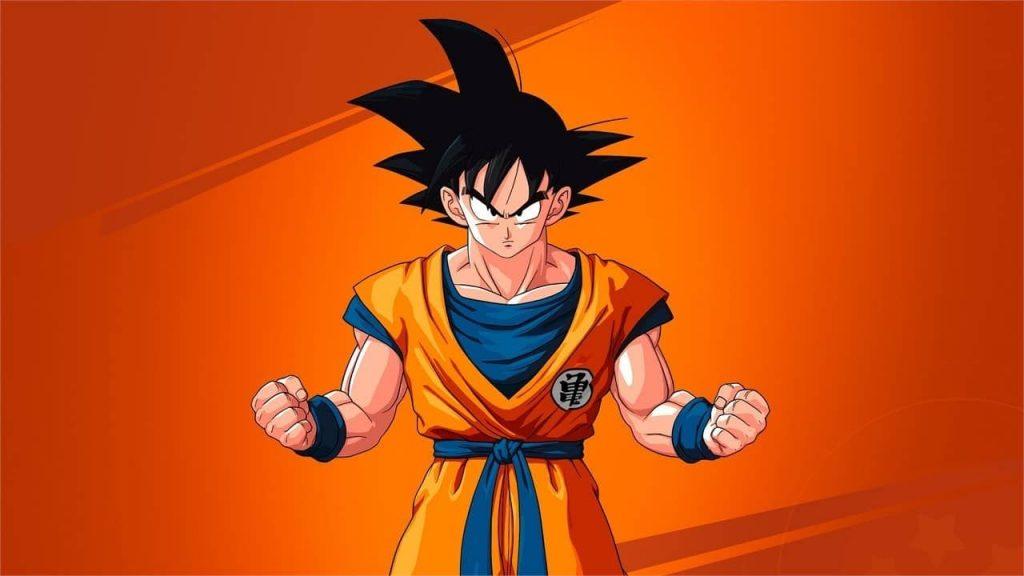 Goku entrenando con uniforme Escuela de la Tortuga